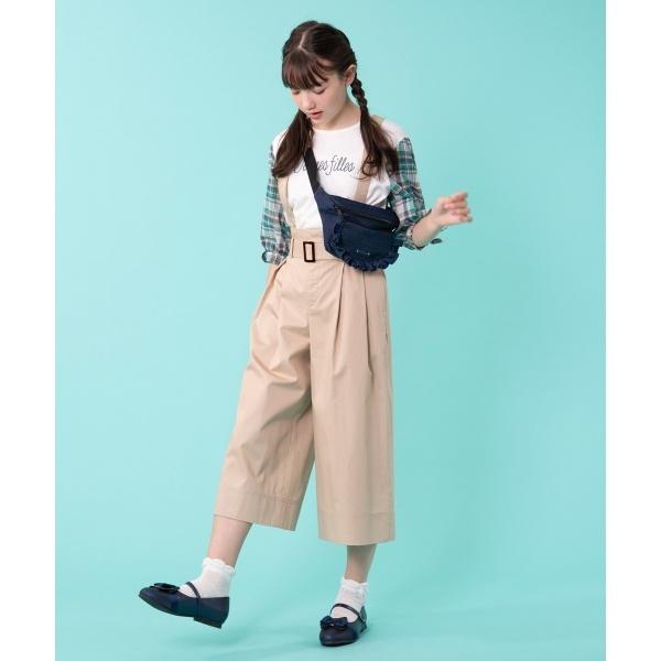 【150~170cm】ハイウエストワイドパンツ/組曲 キッズ(KUMIKYOKU KIDS)