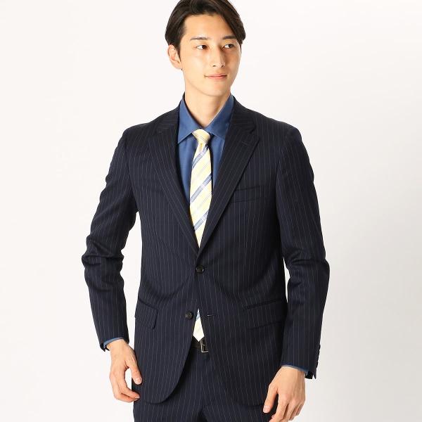 《セットアップ》 カノニコ super110's ワイドストライプ スーツジャケット/コムサイズムメンズ(COMME CA ISM)