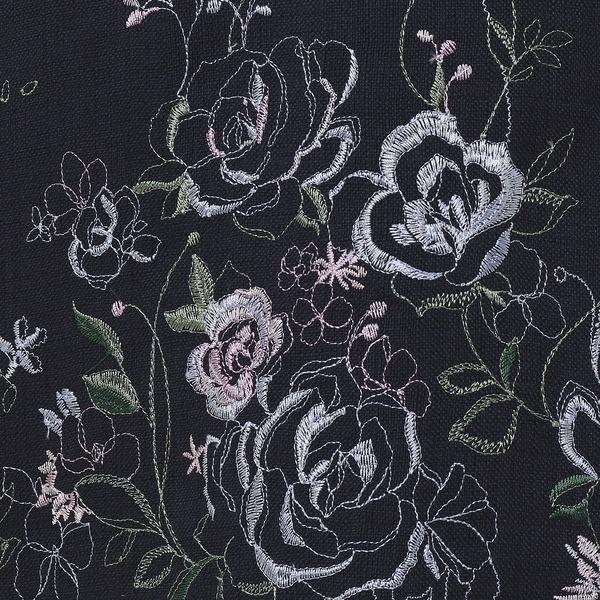 ローズティアラ 線刺繍フレアスリーブワンピース/ (Rose Tiara)