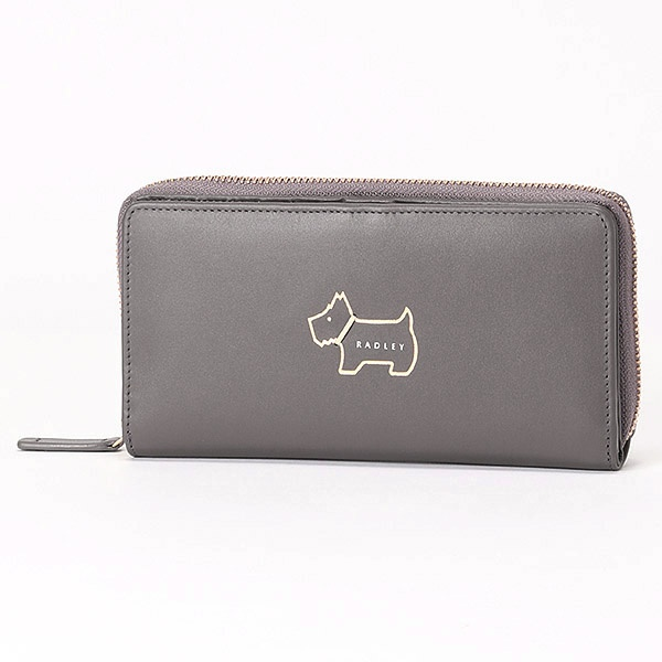 長財布 HERITAGE DOG OUTLINE グレー/ラドリー(RADLEY)