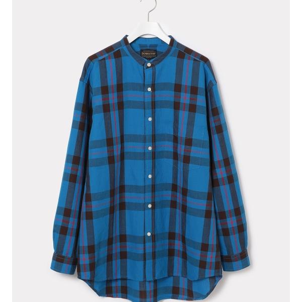 【PENDLETON】別注バンドカラーシャツ/アダム エ ロペ(メンズ)(ADAM ET ROPE')