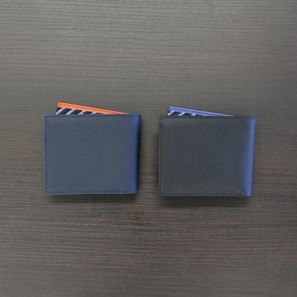 サフィアノ二つ折り財布/メンズメルローズ(MEN'S MELROSE)