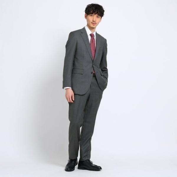 Mスーツ(カラーストライプスーツFabric by DORMEUIL[ メンズ スーツ ストライプ ビジネス ドーメル ])/タケオキクチ(TAKEO KIKUCHI)