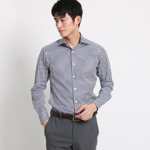 Mシャツ(THOMAS MASON ロンドンストライプシャツ)/ドレステリア(メンズ)(DRESSTERIOR Mens)