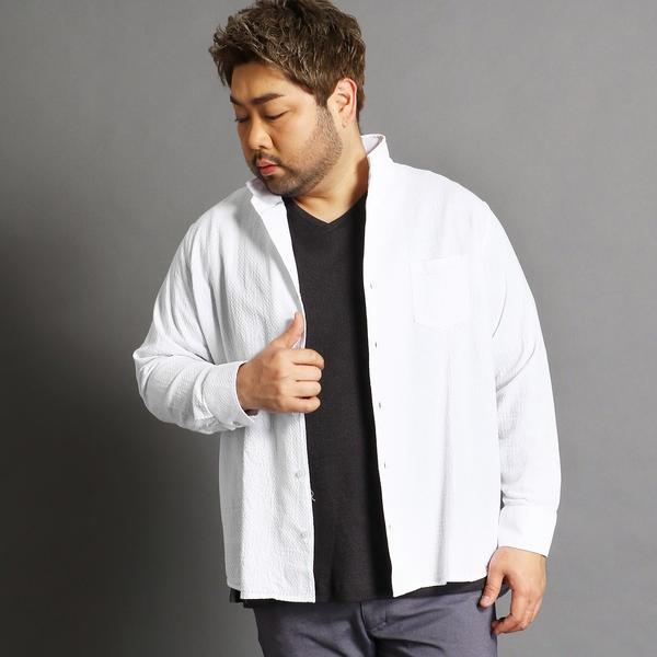 <大きいサイズ>コットンカラーシャツ/ハイダウェイ(大きいサイズ)(HIDEAWAYS)