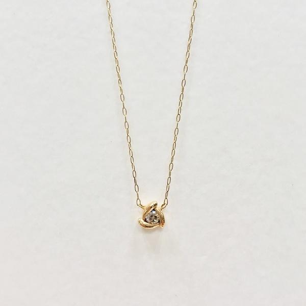 K10 イエローゴールド ダイヤモンド ネックレス/エステール(ESTELLE):丸井(マルイ)店