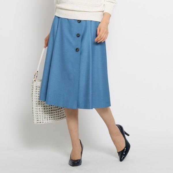 Lスカート(【洗える】ボタンラップ風スカート)/スーナウーナ(SunaUna)