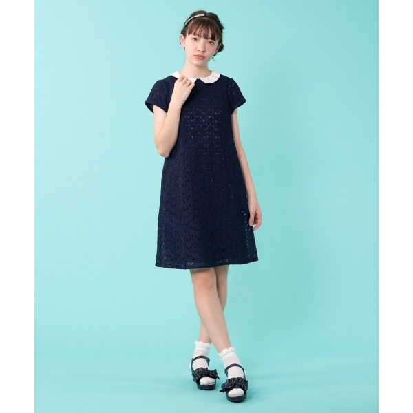 【150~170cm】フラワーレースドレス ワンピース/組曲 キッズ(KUMIKYOKU KIDS)