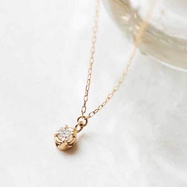 【K10】フィオーレダイヤモンドネックレス/フィービィー(phoebe)