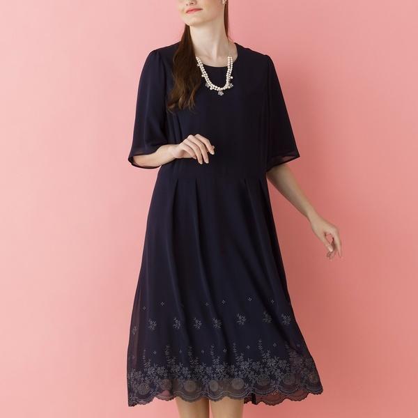 LL~4Lシフォン裾刺繍ワンピース/フィットミーモア(Fitme Moi)