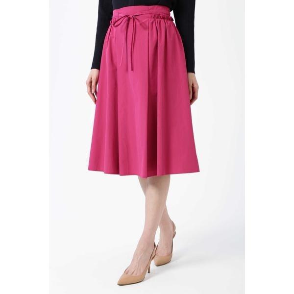 ◆タフタサイドギャザースカート/ナチュラルビューティー(NATURAL BEAUTY)