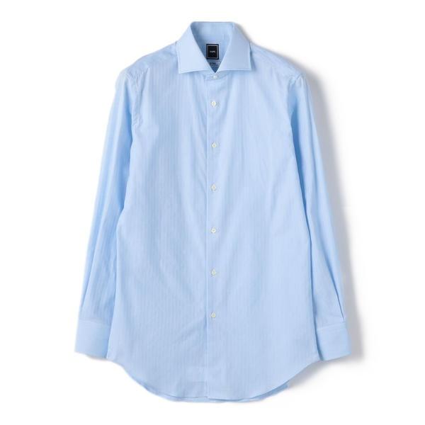 SD: ストライプ パナマ ホリゾンタルカラー シャツ(スカイブルー)/シップス(メンズ)(SHIPS)