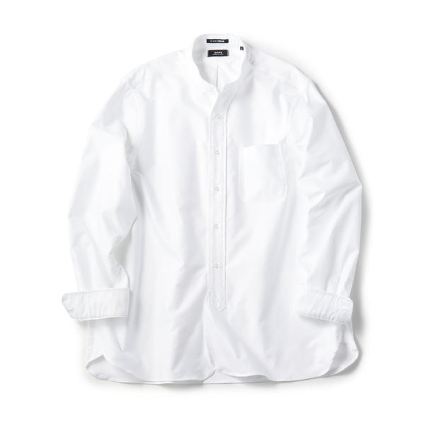 SHIPS×IKE BEHAR アメリカ製 オックスフォード バンドカラー シャツ/シップス(メンズ)(SHIPS)