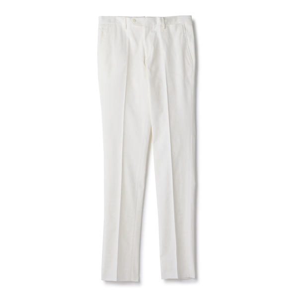 SD: 【ノープリ―ツ】 コットン ソリッド バーズアイ ドレス パンツ (ホワイト) /シップス(メンズ)(SHIPS)
