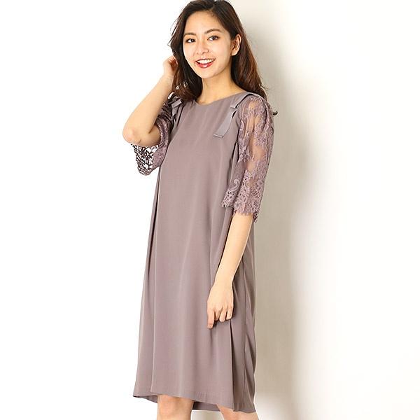 【KATHARINE ROSS】肩リボンレース袖付きドレス/キャサリンロス(KATHARINE ROSS)
