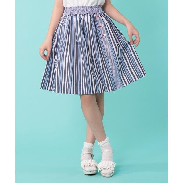 【150~160cm】ブロッキングストライプ スカート/組曲 キッズ(KUMIKYOKU KIDS)