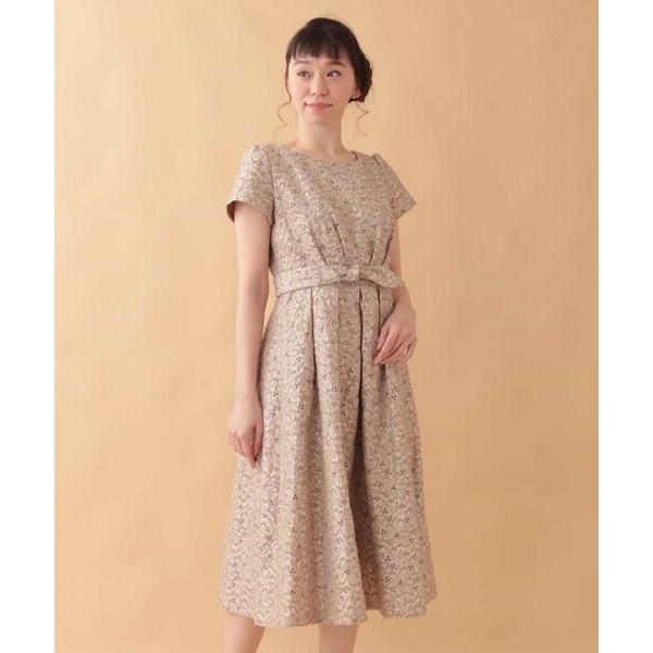Fruto シャンタン 刺繍ワンピース/ホコモモラ(JOCOMOMOLA)