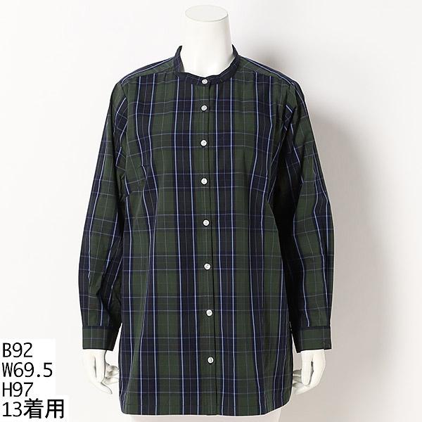 【13号~19号】バラエティ ロングシャツ【大きいサイズレディース】/グリーンノート(大きいサイズ)(greennout)