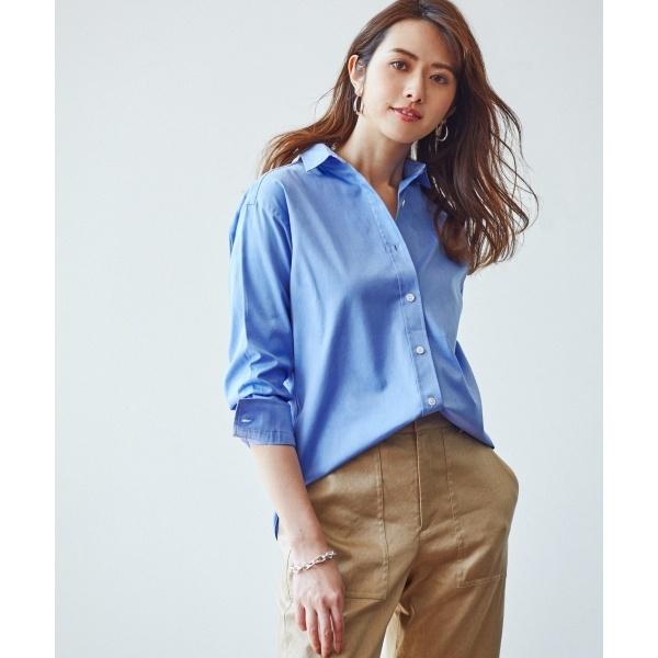 【中村アンさん着用】CANCLINI コットンツイルシャツ(検索番号F34)/23区 S(NIJYUSANKU S)