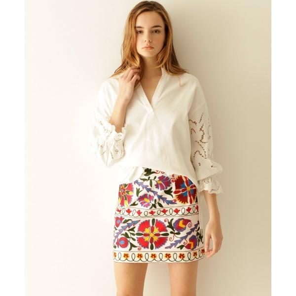 刺繍ミニスカート/グレースコンチネンタル(GRACE CONTINENTAL)