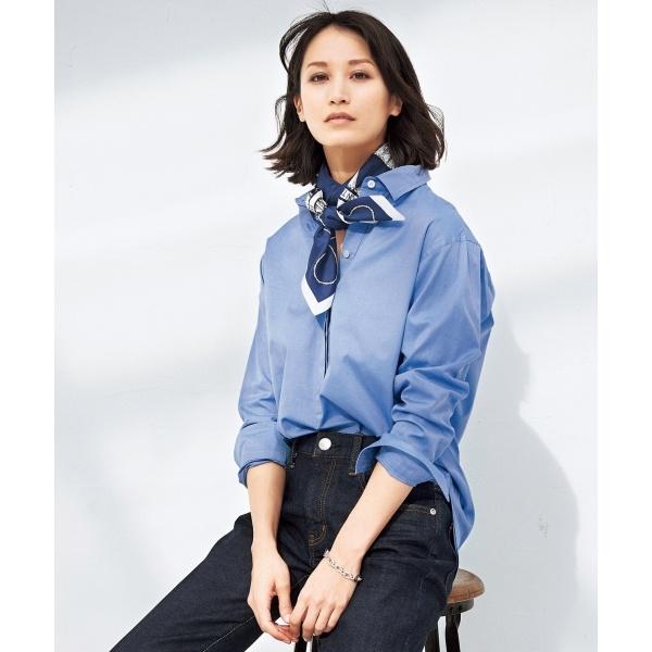 【マガジン掲載】CANCLINI コットンチュニックシャツ(検索番号F35)/23区(NIJYUSANKU)