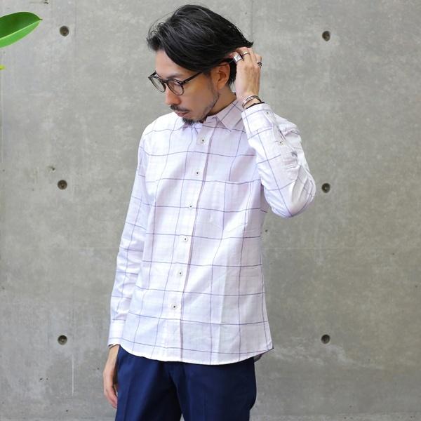 モールチェックレギュラーカラーシャツ/メンズメルローズ(MEN'S MELROSE)