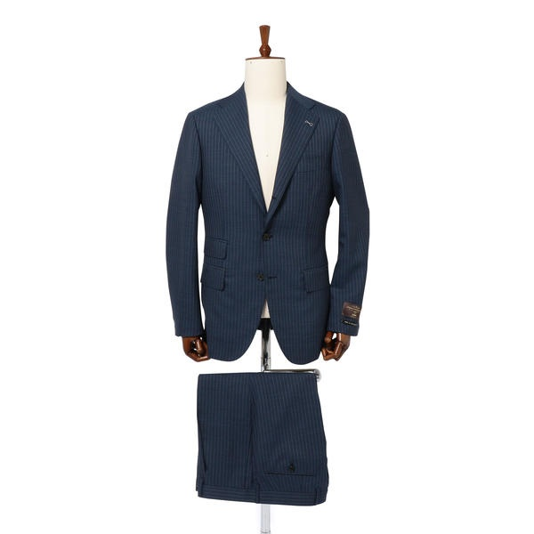 SD:【RING JACKET×CANONICO×SHIPS】メランジ ストライプ スーツ(コバルト/シップス(メンズ)(SHIPS)