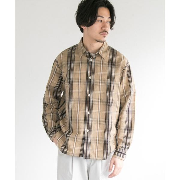 メンズシャツ(TYPEWRITER CHECK OVER SHIRTS)/アーバンリサーチ(メンズ)(URBAN RESEARCH)