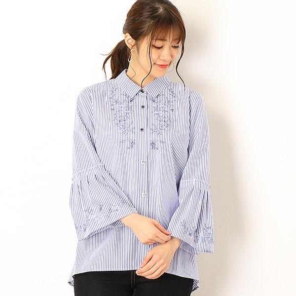 ストライプ刺繍 シャツ/セシオセラ(CECI OU CELA)
