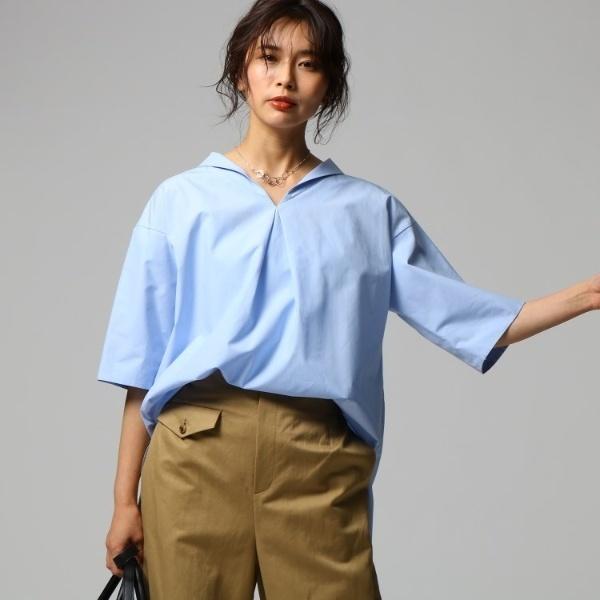 セーラー風ワイドシャツ/アンタイトル(UNTITLED)