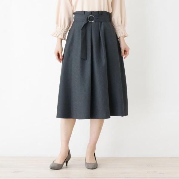 Lスカート(【WEB限定サイズあり】ENNEA デニム風ベルテッドスカート)/スープ(SOUP)