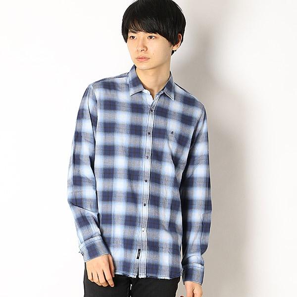 ヤーンダイド へリンボーンチェック シャツ/REPLAY(REPLAY)