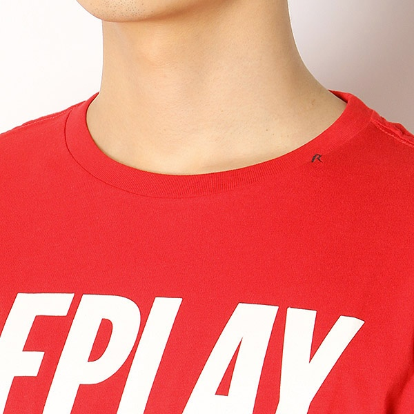 Replay Mens Chronicle Deluxe T-Shirt Red in Size Large
