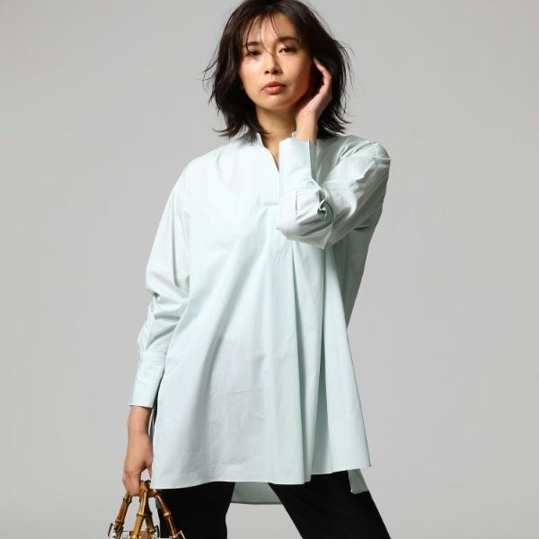 ◆[L]スタンドカラーブロードロングシャツ/アンタイトル(UNTITLED)