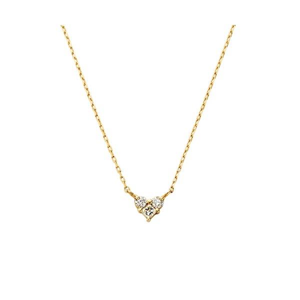 K18YG ダイヤモンド0.06ct ハートネックレス/VA ヴァンドーム青山(VAvendomeaoyama)