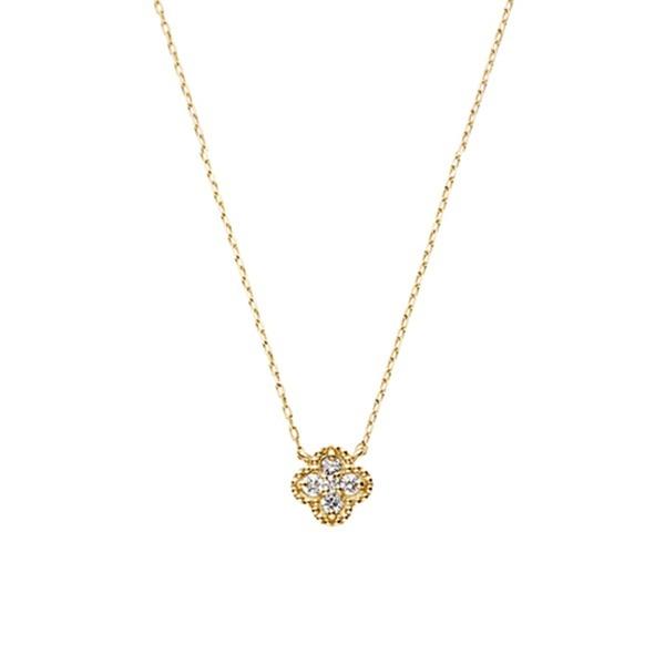 K10YG ダイヤモンド0.06ct フルール ダイヤモンドネックレス/VA ヴァンドーム青山(VAvendomeaoyama)