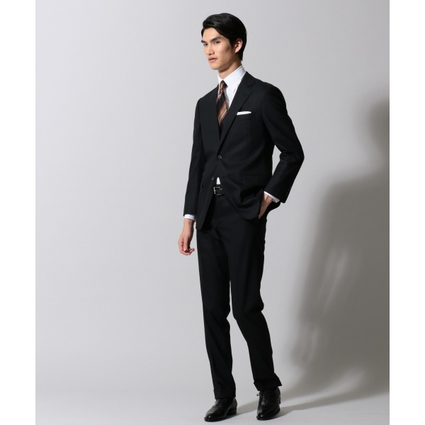 【DRYSPINNER】ブラックシャドーストライプ スーツ/五大陸(gotairiku)