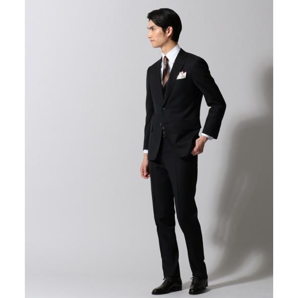 【DORMEUIL】ジェントルブリーズ ブラックシャドーストライプ スーツ/五大陸(gotairiku)