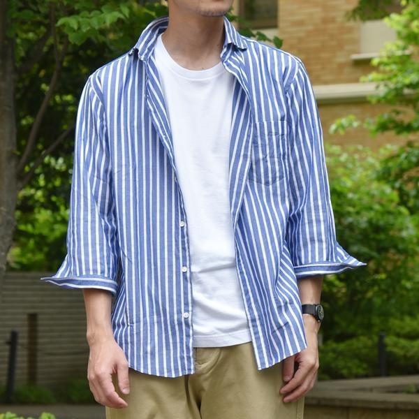 SC: カラミ/ドビー セミワイドカラー 7スリーブシャツ/シップス(メンズ)(SHIPS)