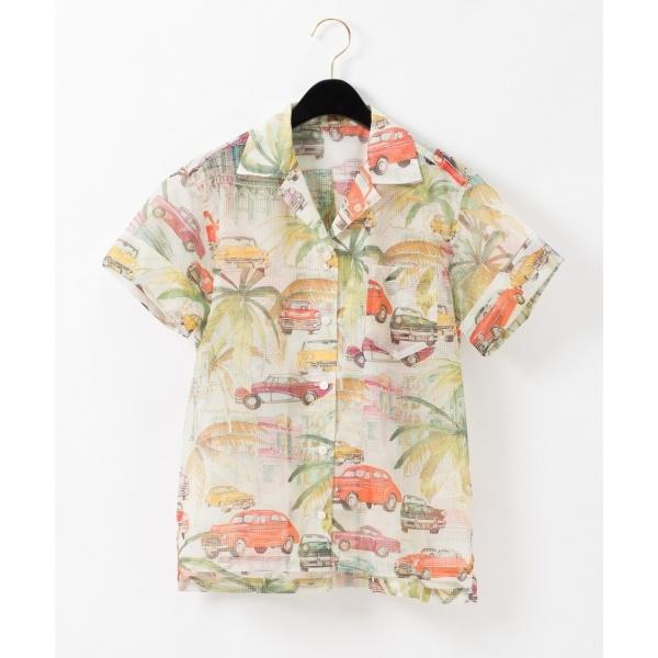リップストッププリントシャツ/グレースコンチネンタル(GRACE CONTINENTAL)