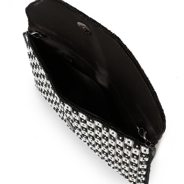 4a2ad51099d7 シップス(レディース)(SHIPS for women)のlittle black:チェックビーズバッグ。 パーティーシーンを提案するships  little blackから ...