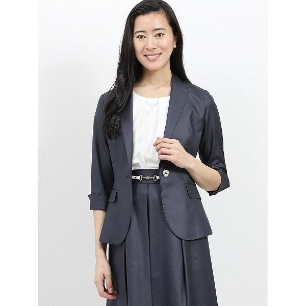 ボンフォルト セットアップ1釦7分袖ジャケット 紺/m.f.エディトリアル(m.f.editorial)