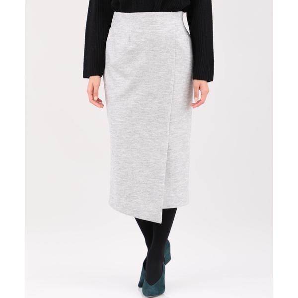 《セットアップ対応》《大きいサイズ》ウールリラクシングタイトスカート/INED L(イネド)(INEDL)