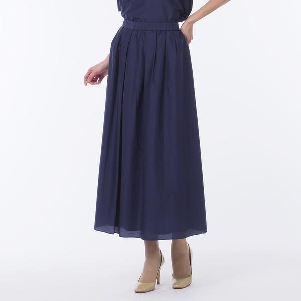 米沢織 綿シルクローン オールゴムスカート 【大きいサイズ】/リリアンビューティー(Liliane Burty)