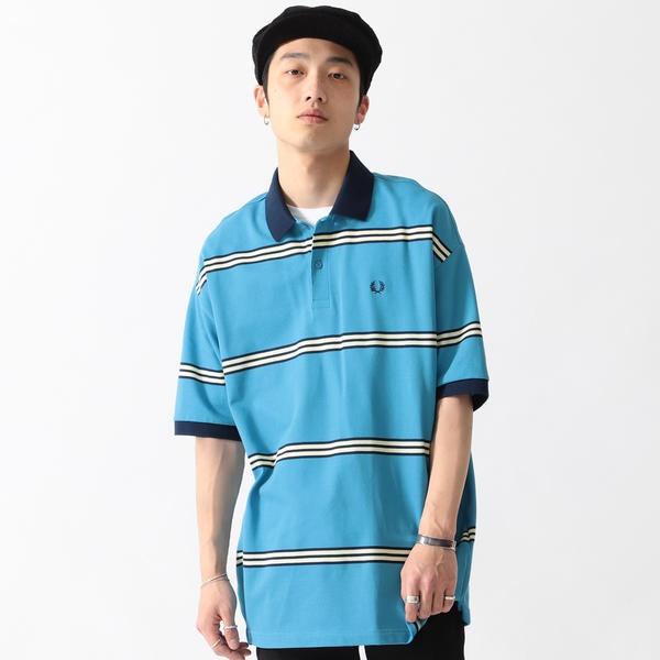 FRED PERRY × BEAMS / 別注 90's ボーダー ポロシャツ/ビームス(BEAMS)