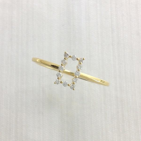 スクエアリング[K18YG/ダイヤモンド]/東京ジュエリーインデックス(TOKYO JEWELRY INDEX)