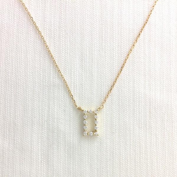 スクエアペンダント[K18YG/ダイヤモンド]/東京ジュエリーインデックス(TOKYO JEWELRY INDEX)