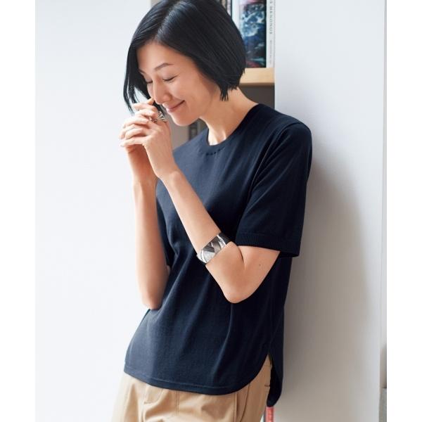 【亜希さん着用】イタリア EMILCOTONI 半袖プルオーバー(検索番号E46)/自由区 S(JIYUKU S)