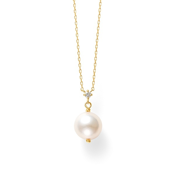 6月誕生石 K18 イエローゴールド あこや真珠 ネックレス/ブルーム(BLOOM)