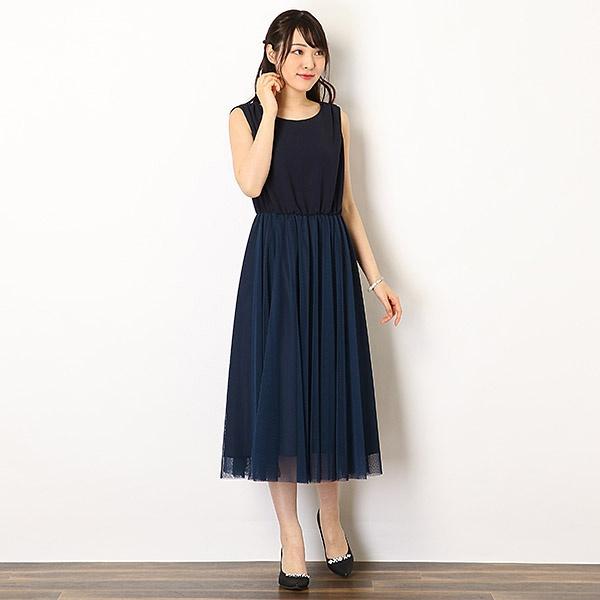 【KATHARINE ROSS】ドットチュールドッキングドレス/キャサリンロス(KATHARINE ROSS)